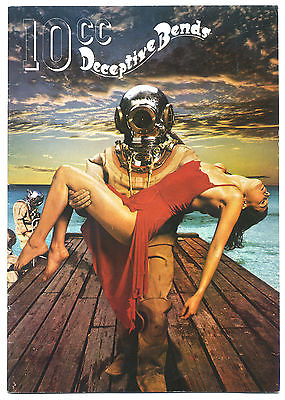 10CC Deceptive Bends Tour Programme 1977 with David McWilliams
