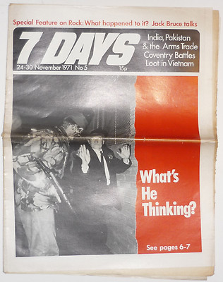 7 Days No 5 November 1971 Includes rare 3 page Jack Bruce Interview