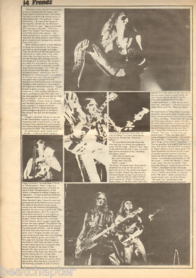 Alice Cooper Great 3 page original Vintage Music Press Article 1972