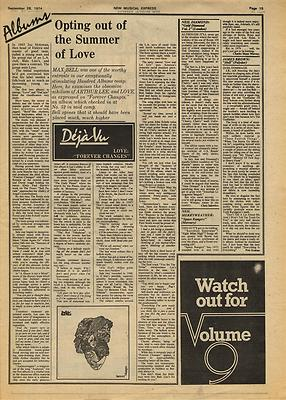 ARTHUR LEE LOVE Forever changes Music Press article/cutting/clipping 1974