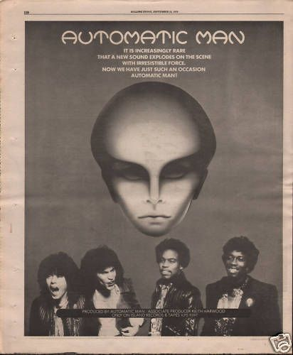 AUTOMATIC MAN 1977 UK Poster Size LP advert Music press vintage cutting/clipping