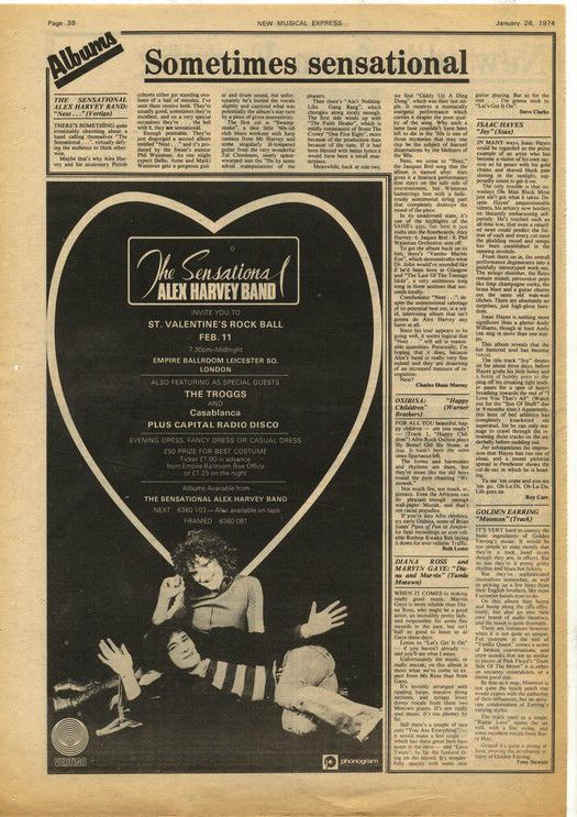 Alex Harvey LP review & Poster Size LP advert cutting/clipping 1974