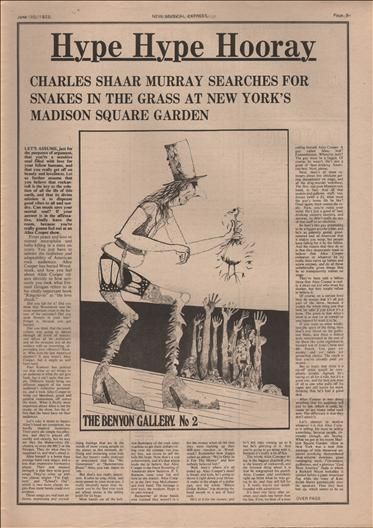 Alice Cooper Hype Hype Hooray Music Press Article/cutting/clipping 1973