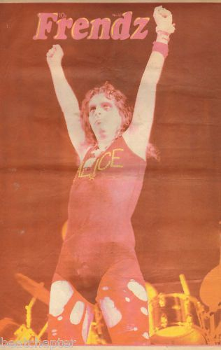 Alice Cooper Poster size Cover 1972 Music press vintage cutting/clipping