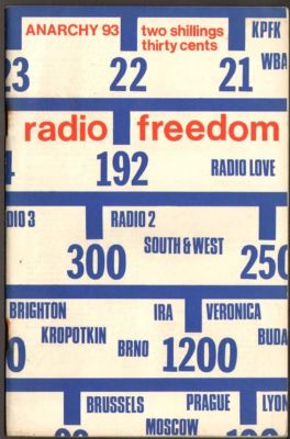 Anarchy 93: Radio Freedom. Vol 8 No 11. November 1968 Vintage Counterculture