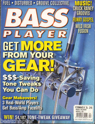 Bass Player Magazine April 2001 Disturbed Fuel Groove Collective