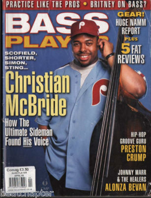 Bass Player Magazine April 2003 Christian McBride Johnny Marr & The Healers