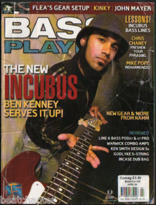 Bass Player Magazine April 2004 Incubus John Mayer Ben Kinney Kinky