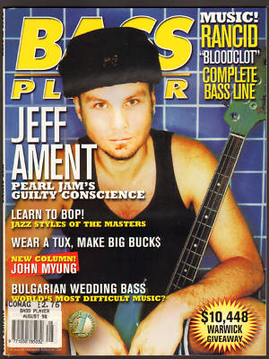 Bass Player Magazine August 1998 Jeff Ament of Pearl Jam