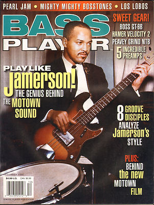 Bass Player Magazine December 2002 Pearl Jam Los Lobos James Jamerson Bosstones