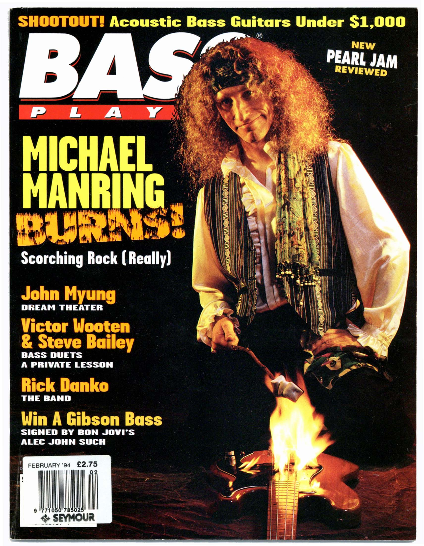 Bass Player Magazine February 1994 Michael Manring John Myung Dream Theater