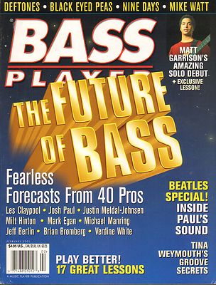 Bass Player Magazine February 2001 Mike Watt Black Eyed Peas Deftones Nine Days