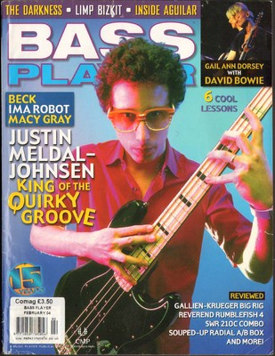 Bass Player Magazine February 2004 Gail Ann Dorsey Limp Bizkit Justin Medal Johnsen