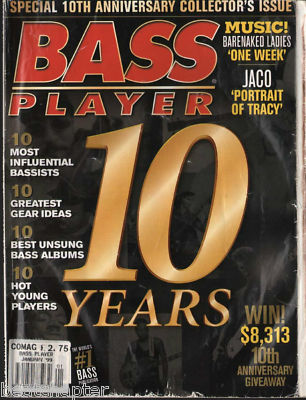 Bass Player Magazine January 1999 Jaco Pastorious