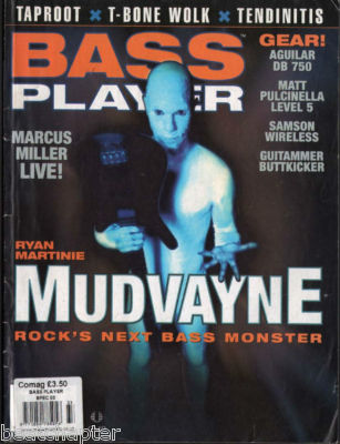 Bass Player Magazine January 2003 Mudvayne Taproot Marcus Miller
