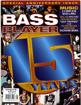 Bass Player Magazine January 2004 Anniversary Issue Richard Bona Paul McCartney