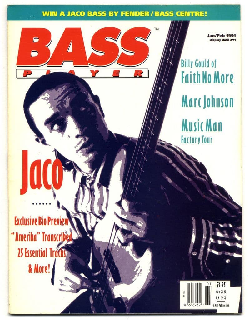 Bass Player Magazine January February 1991 Marc Johnson Billy Gould Jaco Pastorius