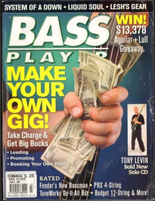 Bass Player Magazine July 2000 Liquid Soul System of a Down Tony Levin