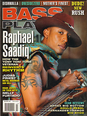 Bass Player Magazine July 2002 Judas Priest Dishwalla Raphael Saadiq Rush