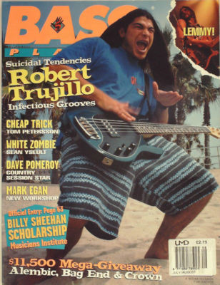Bass Player Magazine July August 1994 Robert Trujillo White Zombie Lemmy