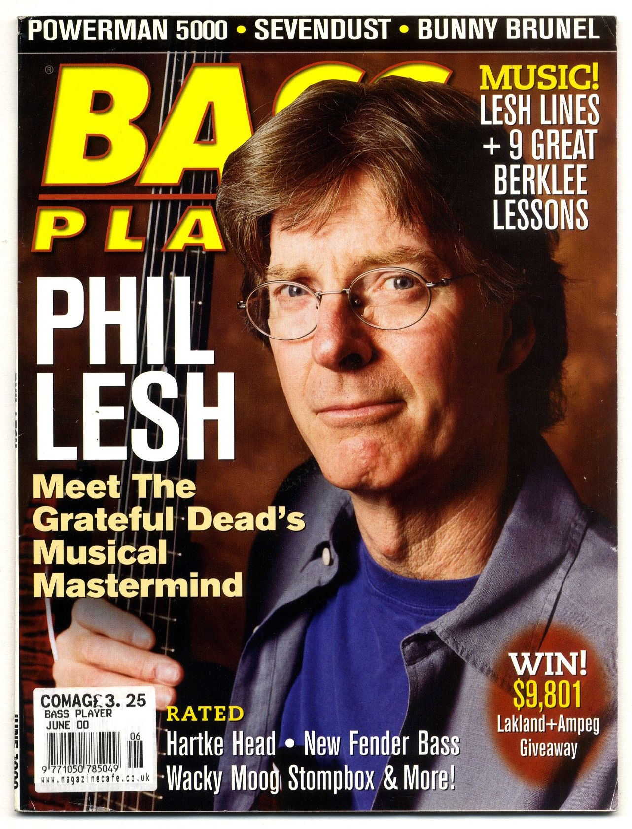 Bass Player Magazine June 2000 Bunny Brunel Sevendust Phil Lesh Moog Stompbox