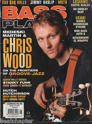 Bass Player Magazine June 2002 Chris Wood Moth Aaron Mills JImmy Haslip