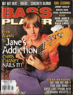 Bass Player Magazine June 2003 Jane's Addiction