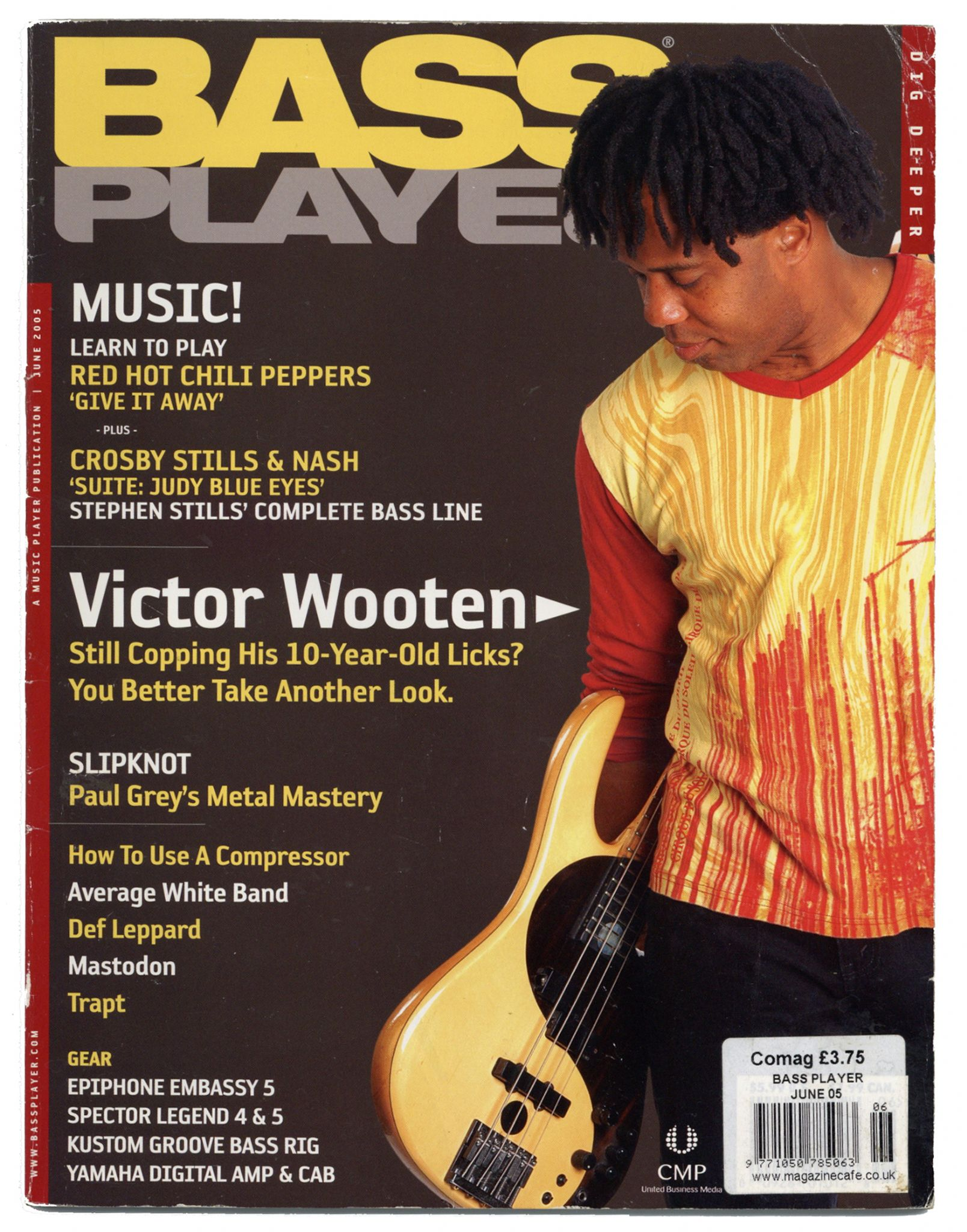 Bass Player Magazine June 2005 Victor Wooton Mastodon