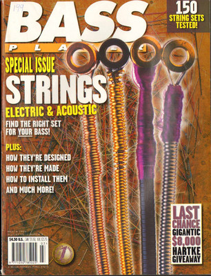 Bass Player Magazine March 1996 Special Issue Strings Electric & Acoustic