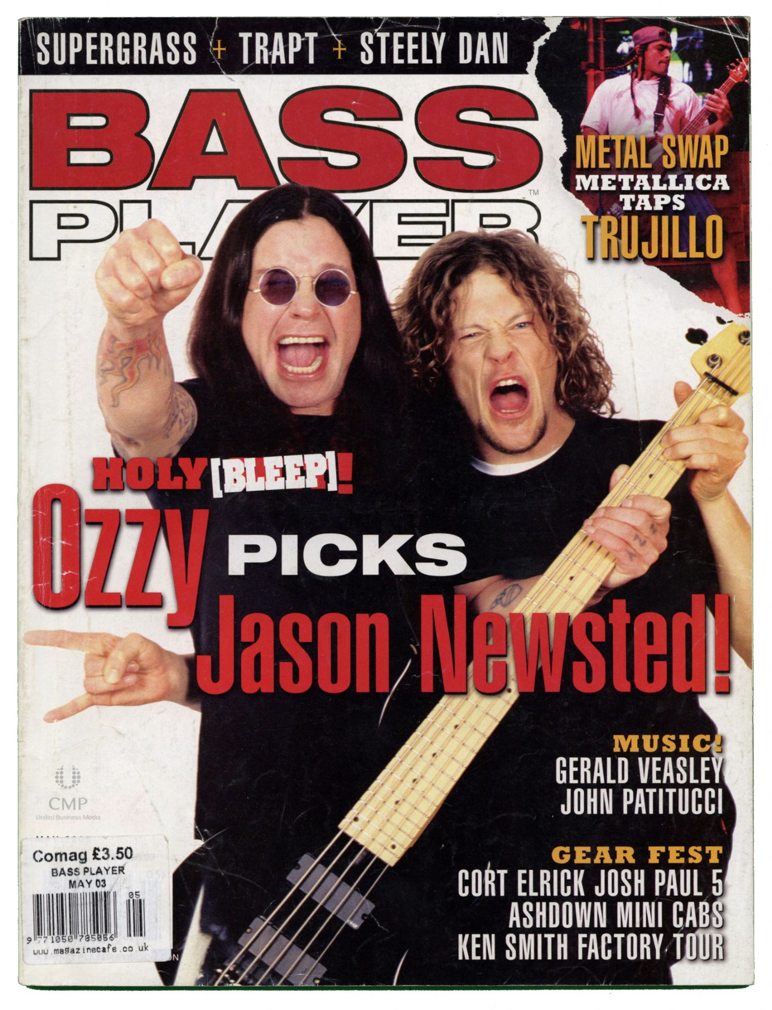 Bass Player Magazine May 2003 Supergrass Steely Dan Trapt