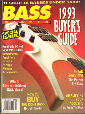 Bass Player Magazine November 1992 1993 Buyers Guide The Parker Fly Bass