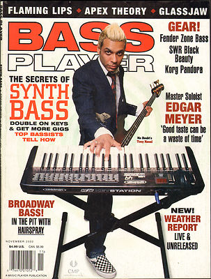 Bass Player Magazine November 2002 Flaming Lips Glassjaw Apex Theory Edgar Meyer