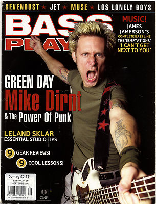 Bass Player Magazine September 2004 Green Day Mike Dirnt Muse Jet Leland Sklar Sevendust