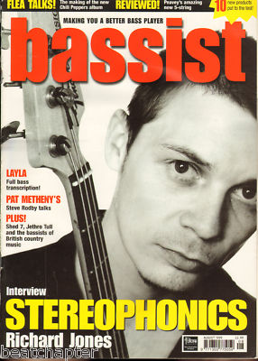 Bassist Magazine August 1999 Stereophonics Jethro Tull
