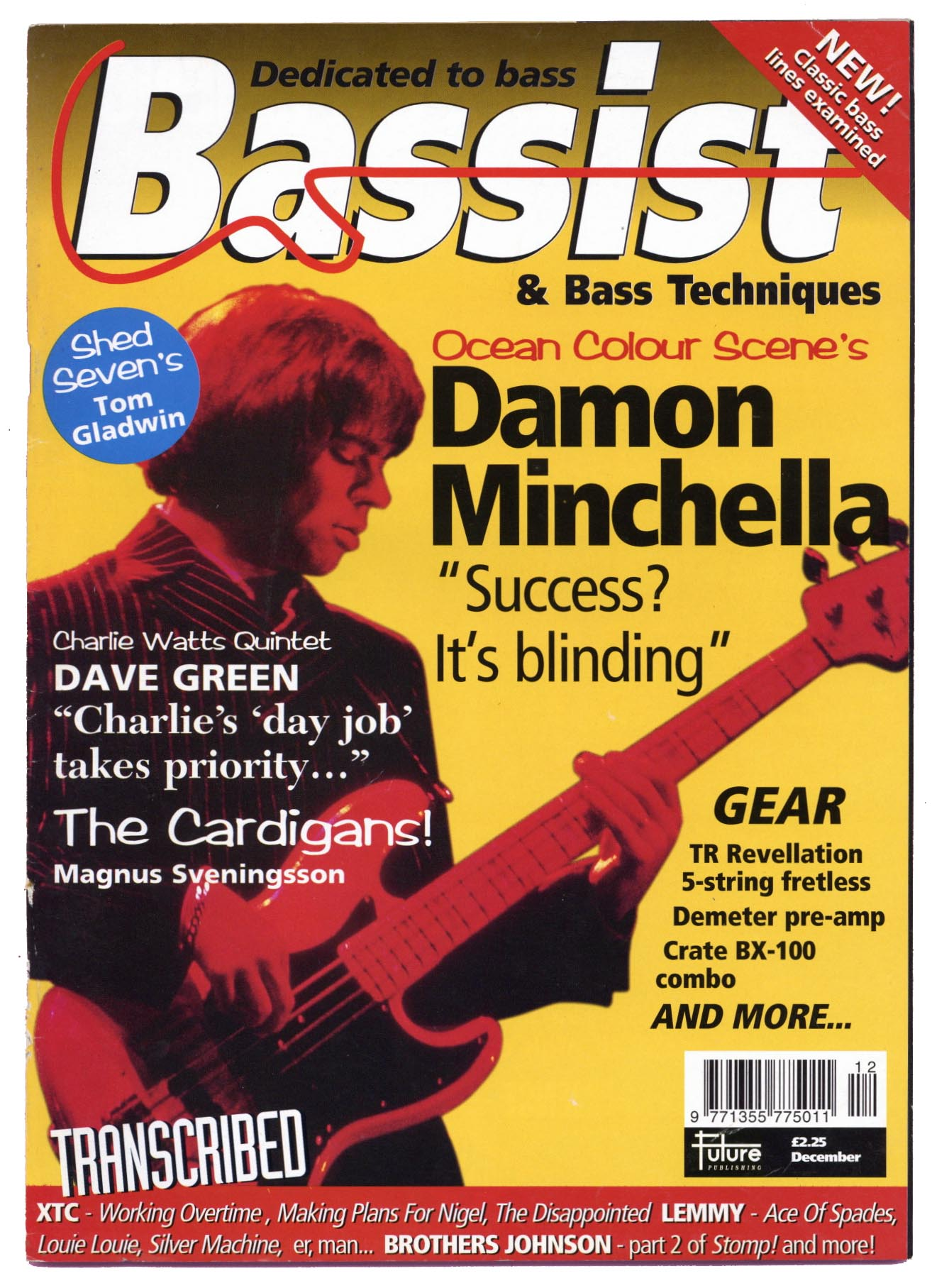 BASSIST Magazine December 1996 Damon Minchella
