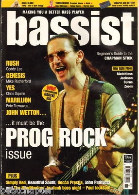 BASSIST Magazine January 1999 Rush Genesis Marillion