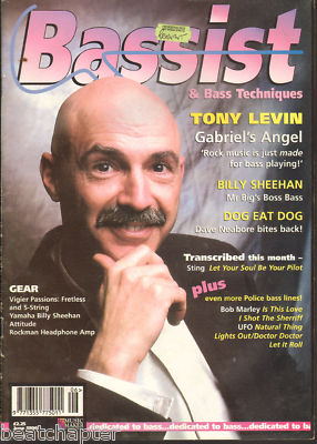 Bassist Magazine June 1996 Tony Levin Billy Sheehan