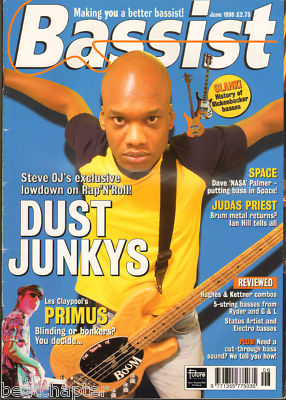 BASSIST Magazine June 1998 Primus Judas Priest Space