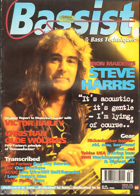 BASSIST Magazine March 1996 Steve Harris of Iron Maiden