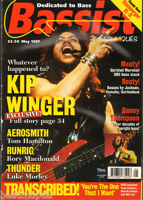 BASSIST Magazine May 1997 Kip Winger Aerosmith