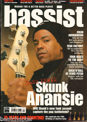 BASSIST Magazine May 1999 Cass Lewis Skunk Anansie