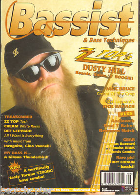 Bassist Magazine September 1996 ZZ Top Dusty Hill Jack Bruce