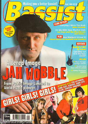 BASSIST Magazine September 1998 Jah Wobble Tampasm Snowpony