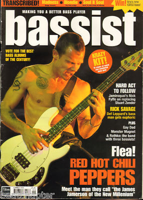 BASSIST Magazine Summer 1999 Red Hot Chilli Peppers Flea