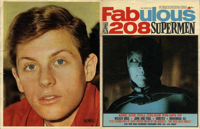 BATMAN & BURT WARD approx 10X13 inch Pinup poster size press cutting/clipping 1966