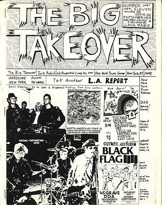 Big Takeover Magazine/Fanzine Issue No 11 Black Flag Social Distortion Chron Gen Wasted Youth