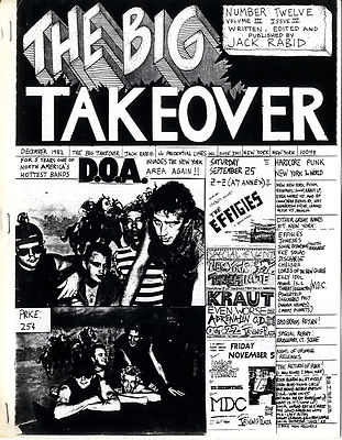 Big Takeover Magazine/Fanzine Issue No 12 D.O.A Bad Brains Kraut Jonsesn Effigies Billy Idol