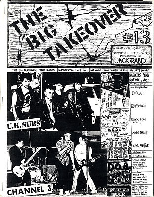 Big Takeover Magazine/Fanzine Issue No 13 UK Subs Channel 3 Exploited Minor Threat Black Flag