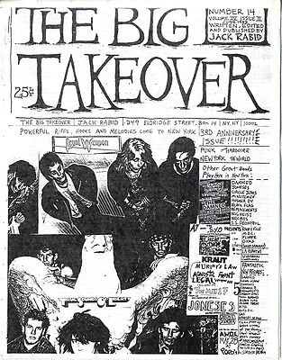 Big Takeover Magazine/Fanzine Issue No 14 TSOL Legal Weapon Damned Circle Jerks Minutemen Necros