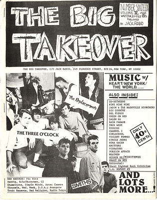 Big Takeover Magazine/Fanzine Issue No 16 The Smiths Replacements Three O'Clock Nina Hagen 999